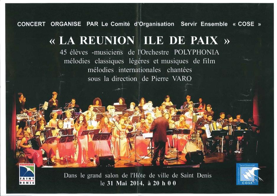 Affiche du concert du samedi 31 mai 2014